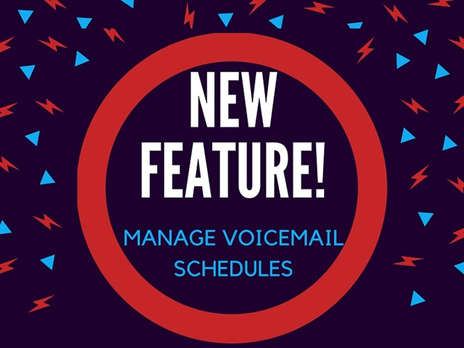 Manage Voicemail Schedules