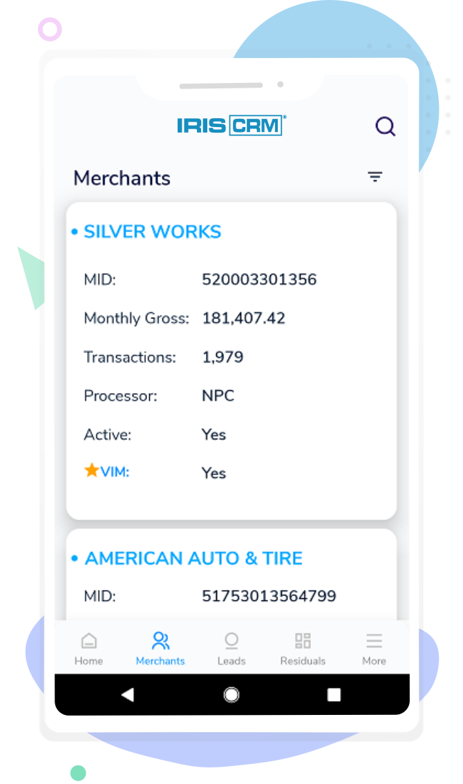 Merchant Screen Mobile