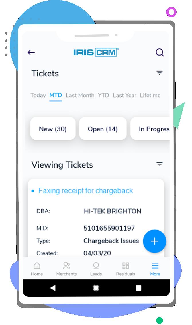 Helpdesk Screen Mobile