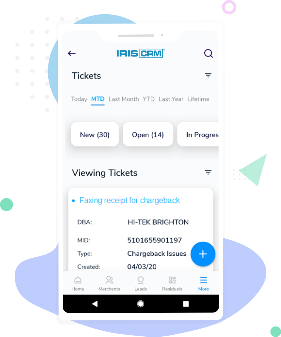 Helpdesk Screen