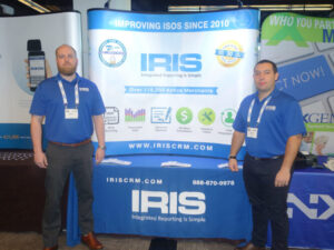 Picture of Jaron and Jason at IRIS CRM Booth in San Francisco April 2015