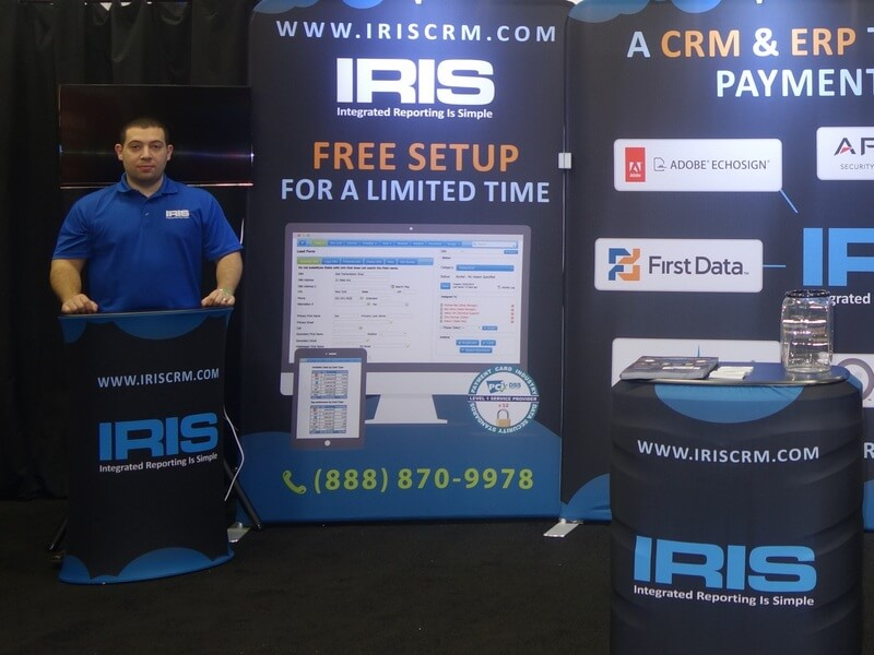 Picture of Jason Weinberger of IRIS CRM at IRIS CRM Booth in San Francisco April 2015