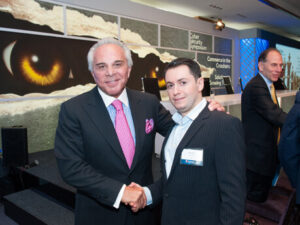 Picture of Joseph Plumeri First Data Management and Dimitri Akhrin IRIS CRM at FD Cyber Symposium New York 2014