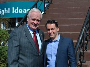 Picture of Senator Marty Golden Brooklyn and Dimitri Akhrin IRIS CRM Chip Pin Legislation
