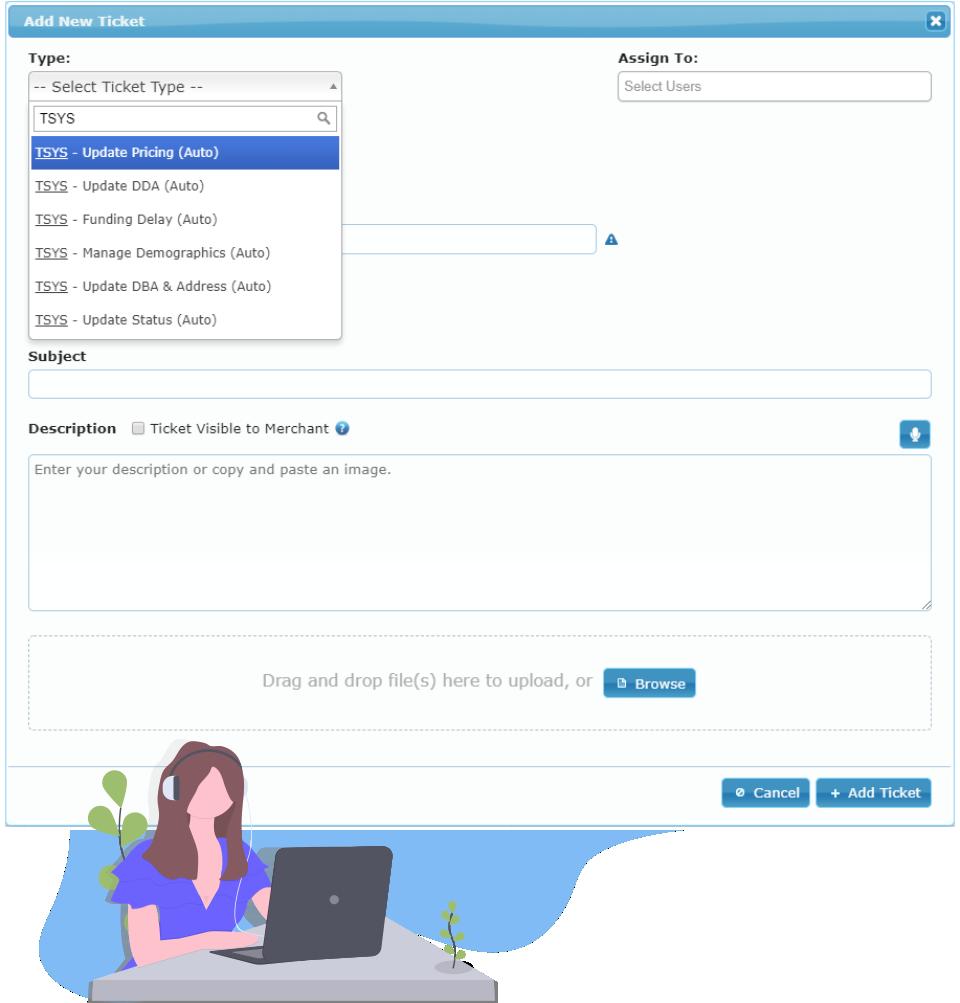 TSYS Merchant Real-Time Maintenance.
