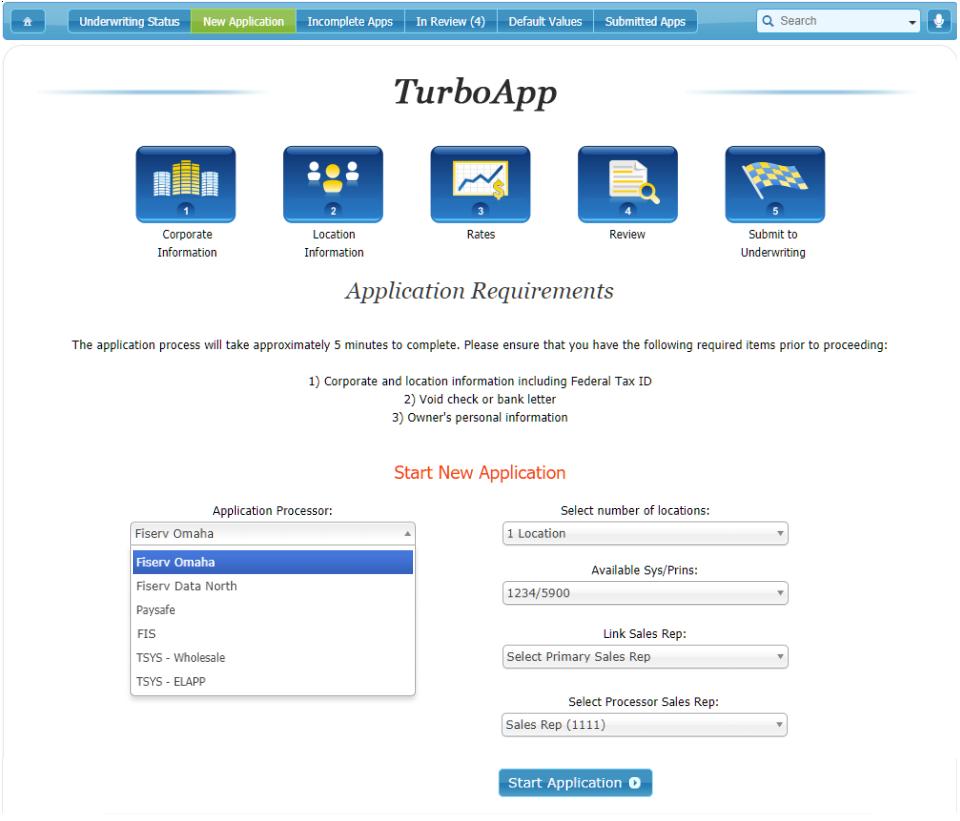 Beginning a New TurboApp Application: