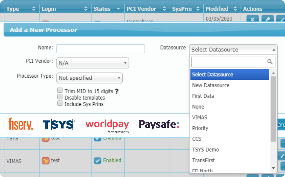 Payment Processor Boarding Certifications.